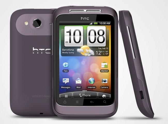 Восьмое место у новичка рейтинга — HTC Wildfire S.