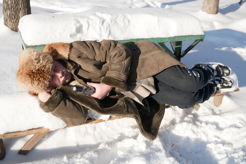Фанаты водки не боятся холодов
