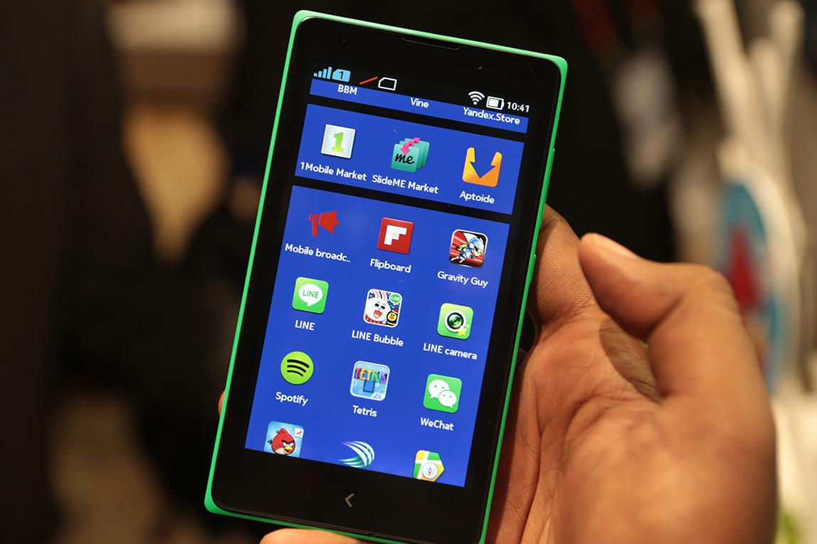 Nokia X доступны все новейшие сервисы Android