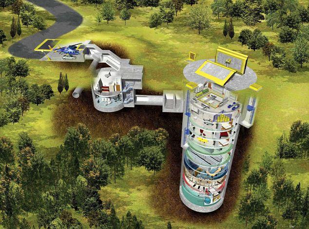 Спроектированный Ларри Холлом бункер расположен на глубине 60 метров под землей