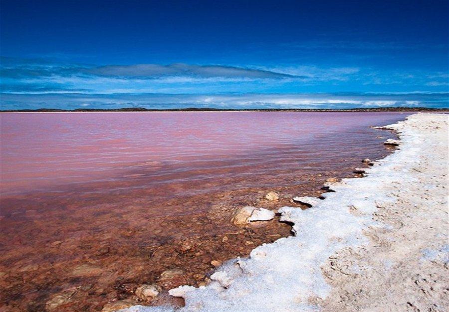 Озеро опоясывает соль