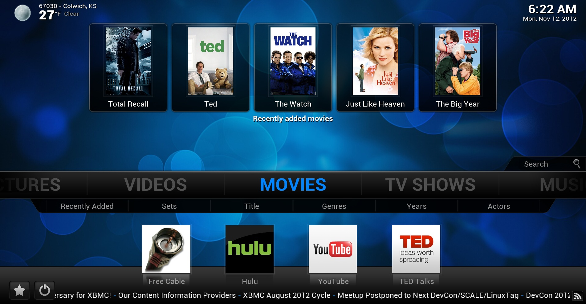 XBMC — замена Smart TV на компьютерах