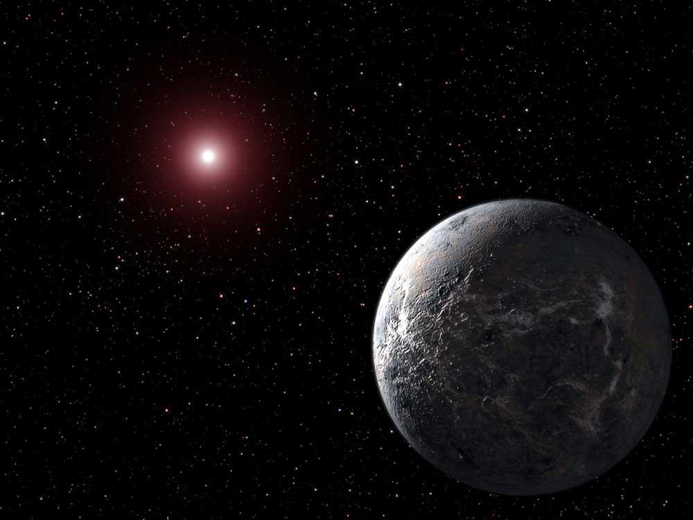 Потенциально обитаемая планета вращается возле красного карлика