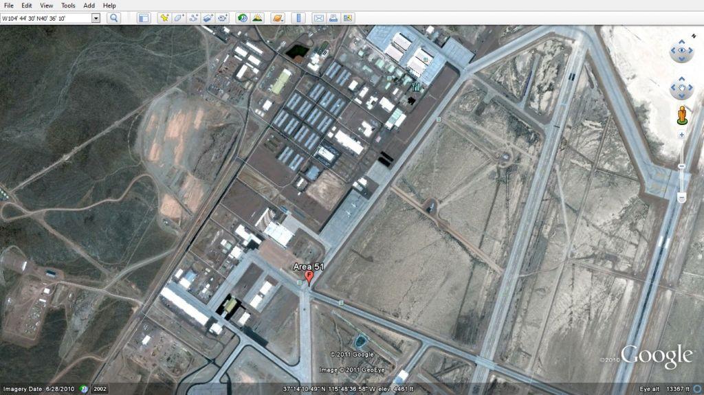 Вид на Area 51