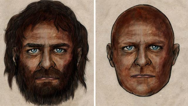 Картинки по запросу древний человек с голубыми глазами