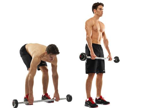 Выполняя становую тягу, держи спину ровной