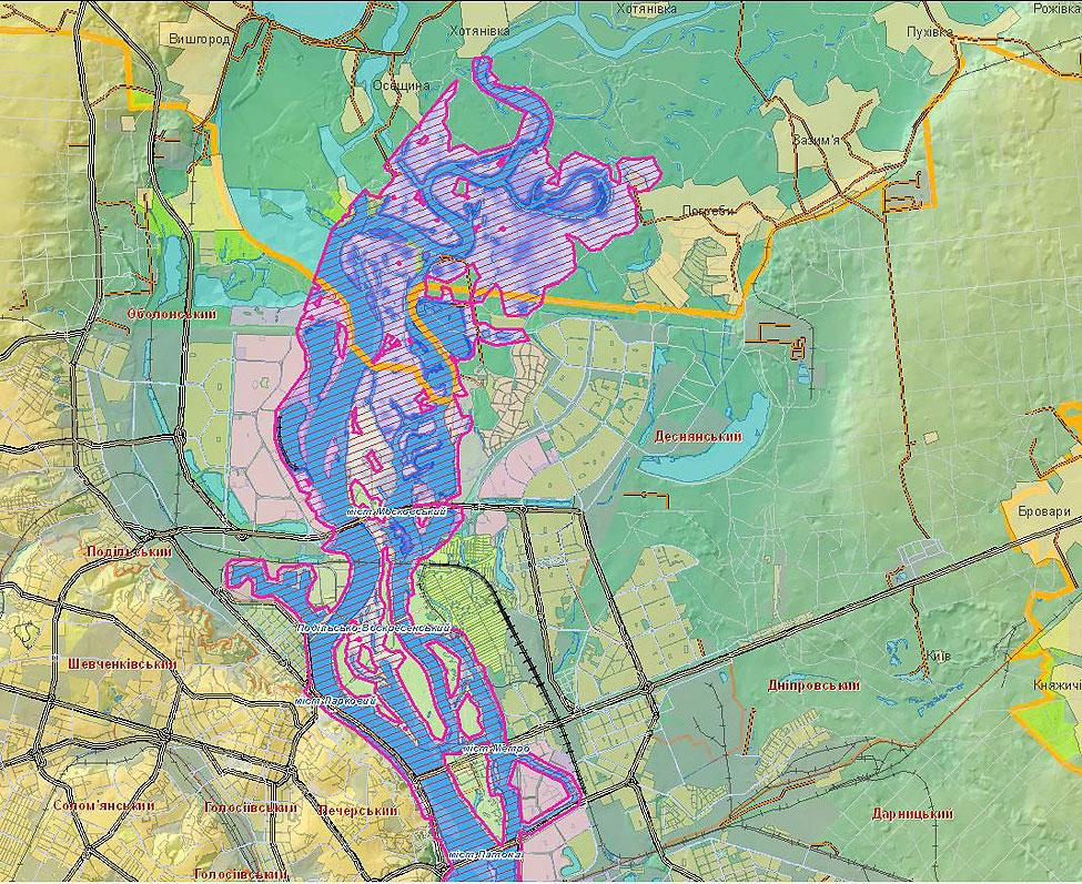 Карта Метро Киева По Районам