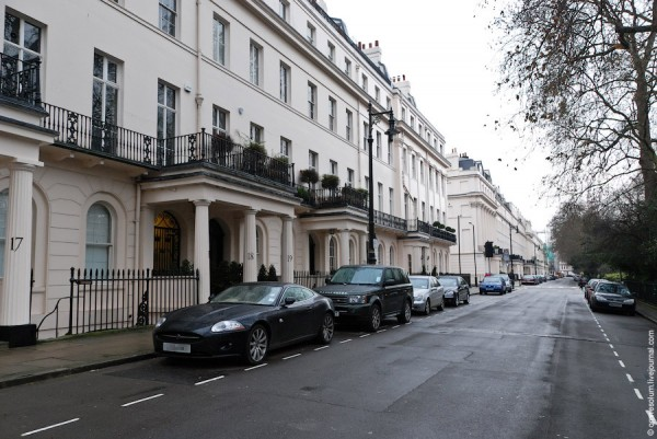 Такой он - аристократический район Kensington Palace Gardens