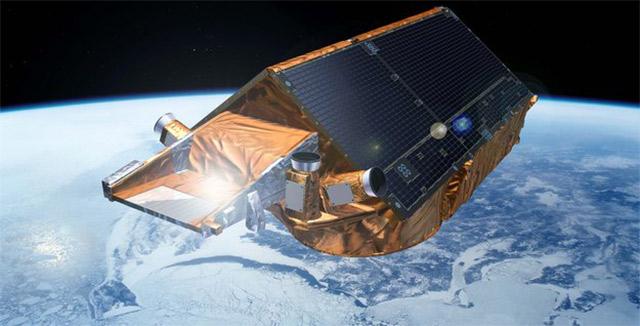 Спутник следит за таянием льдов