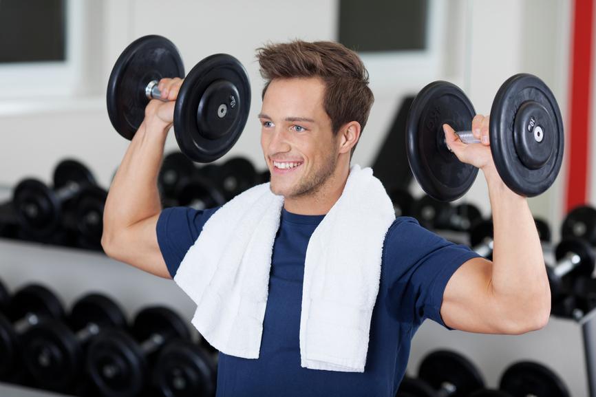 Начинай тренировку с разминки и умеренного рабочего веса