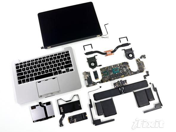 MacBook Pro в разобранном виде