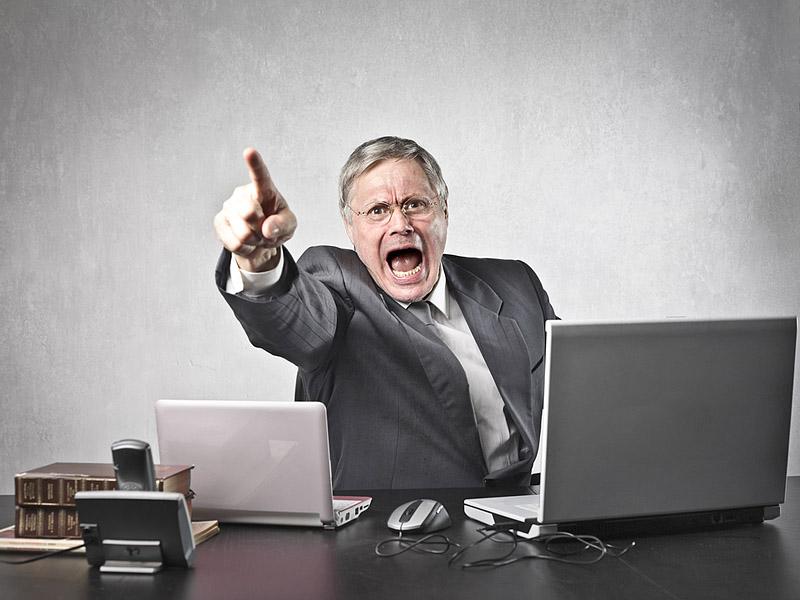 Крик - признак плохого начальника