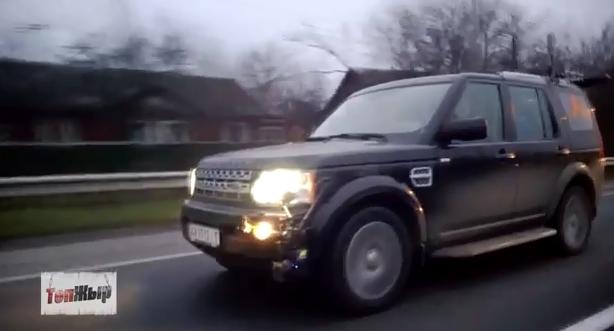 Съемочная группа на Land Rover