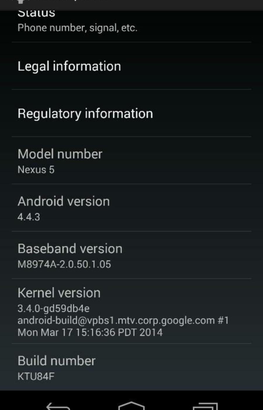 Скриншот Android 4.4.3