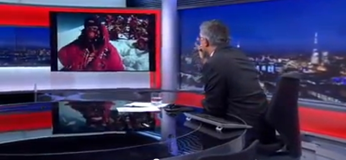 Прямая связь со студией BBC