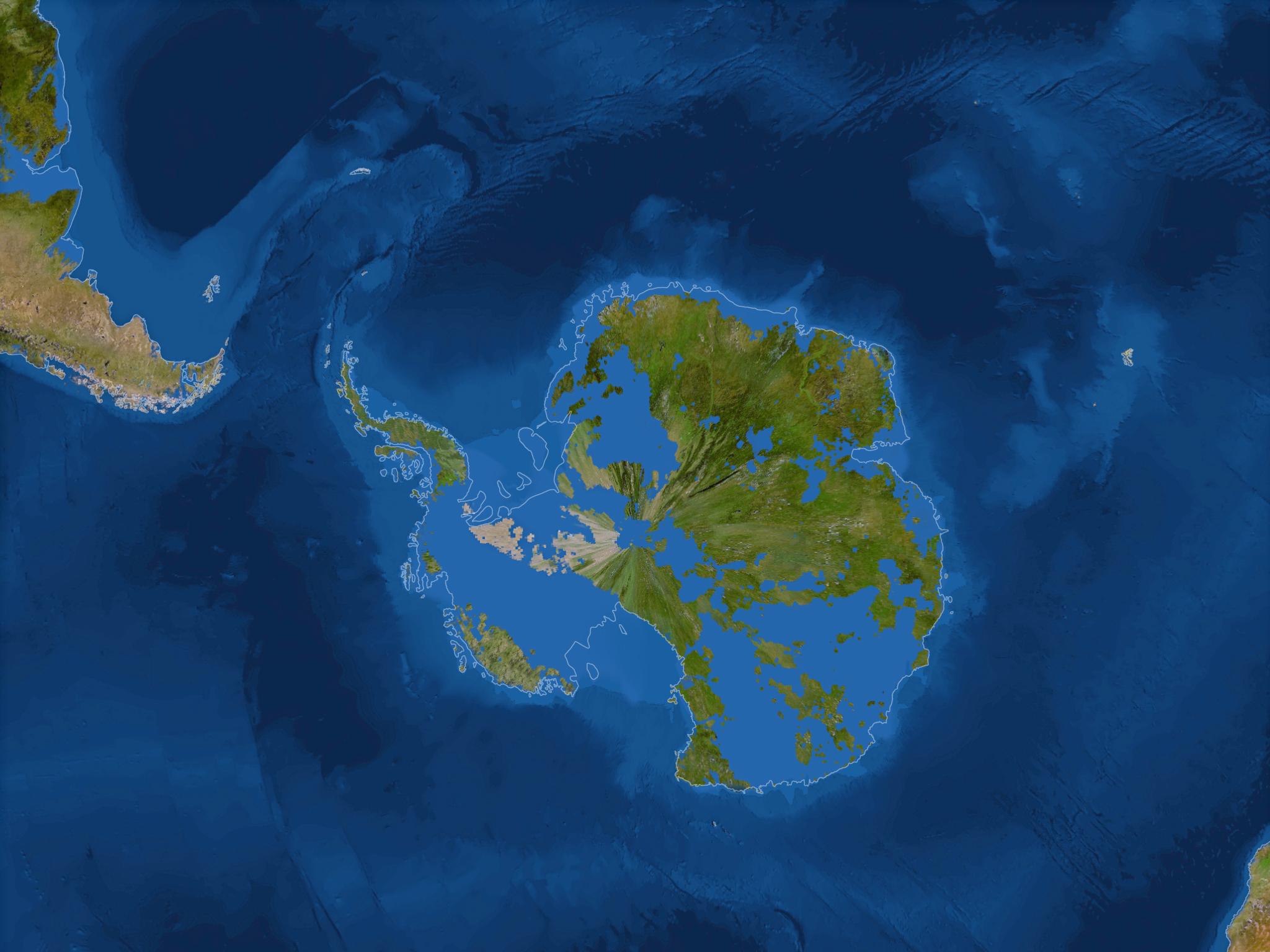 Антарктида практически полностью исчезнет