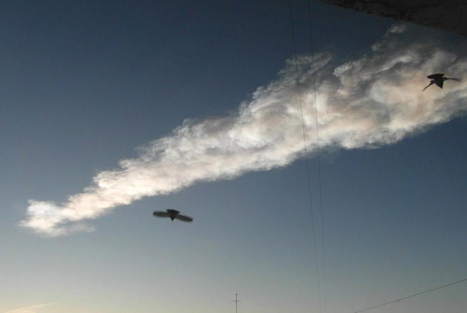 Метеорит пролетел сегодня утром
