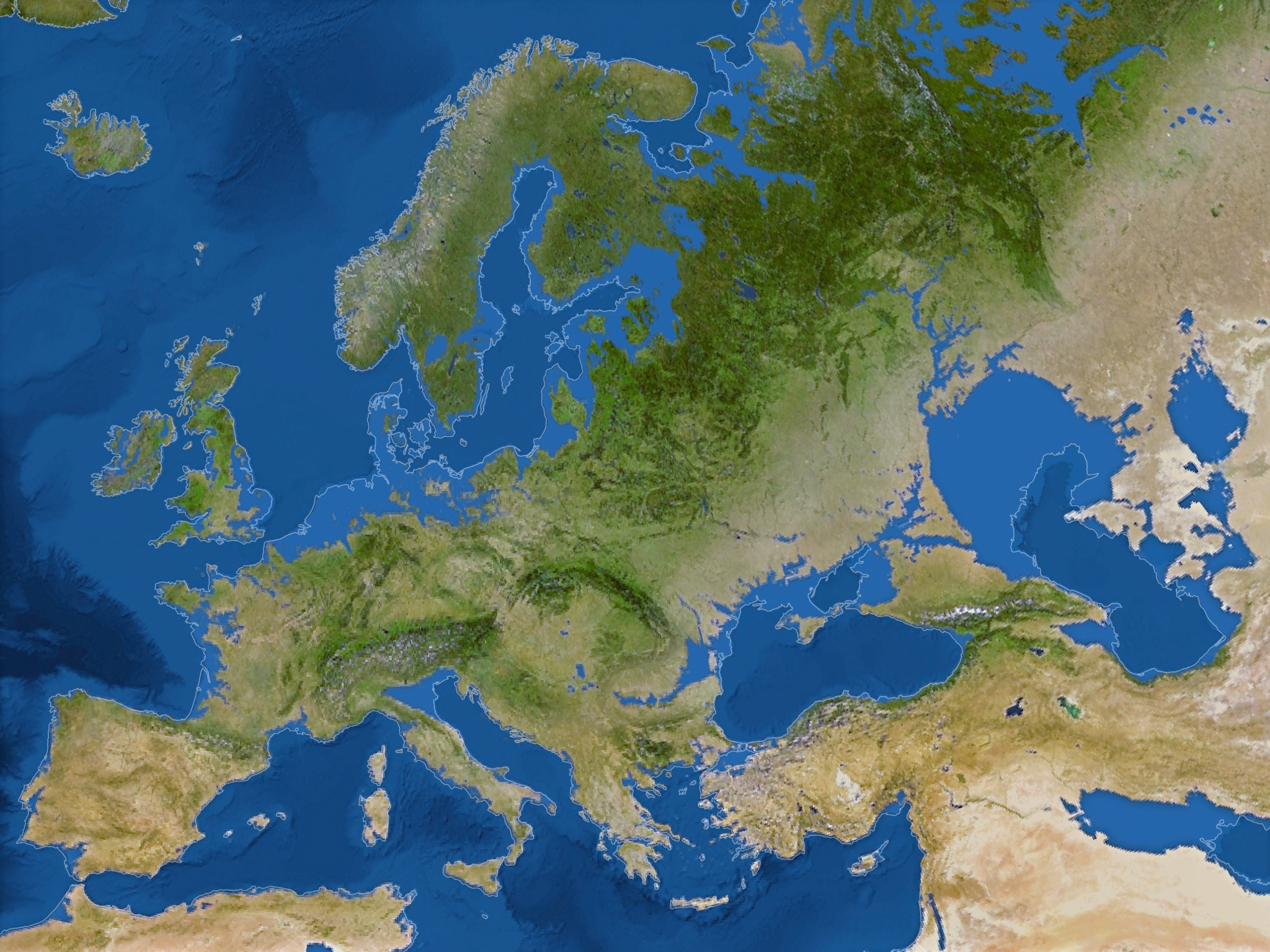 Европа сильно поменяет свой рельеф