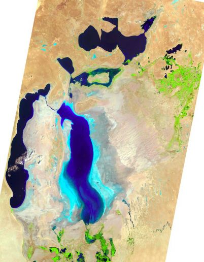Аральское море сильно изменилось за 40 лет
