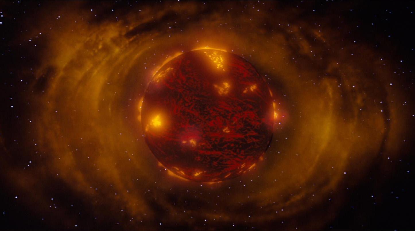 Поначалу наша Земля была не имела материков, и была похожа на огненный шар