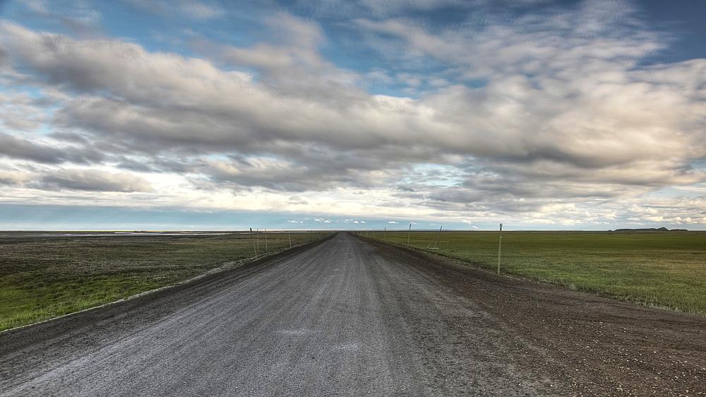 "Dalton Highway (или ""Haul Road"") в Аляске"