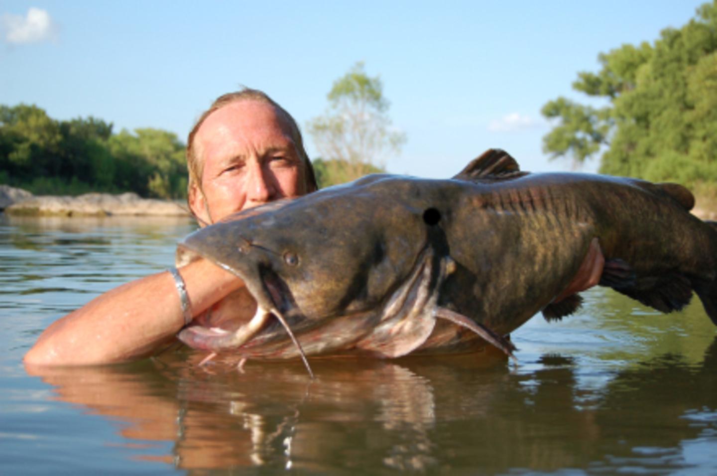 люди ловят рыбу руками