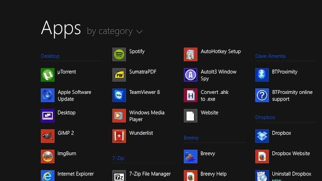 Приложения в Windows 8.1