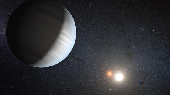 Планеты вращаются вокруг двух звезд
