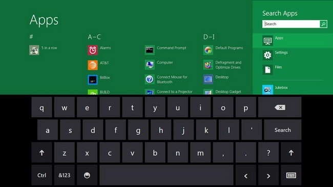 Скриншоты Windows 8