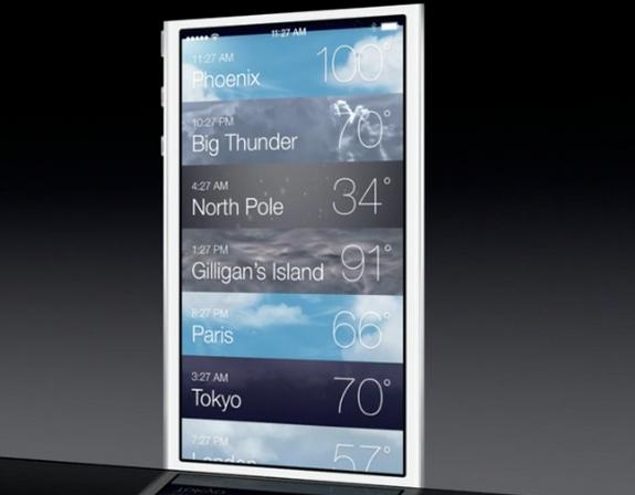 Новое приложение Погода в iOS 7 beta