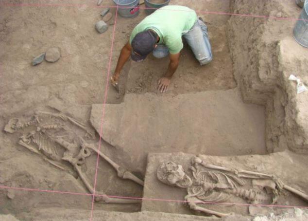 Вместе с деформированными черепами были и обычные