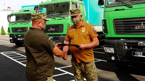 Госспецтрансслужба Украины получила партию грузовиков МАЗ