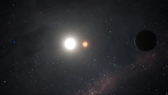 Одна звезда вращается вокруг другой