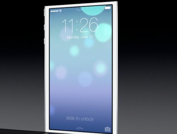 Новый экран iOS 7 beta