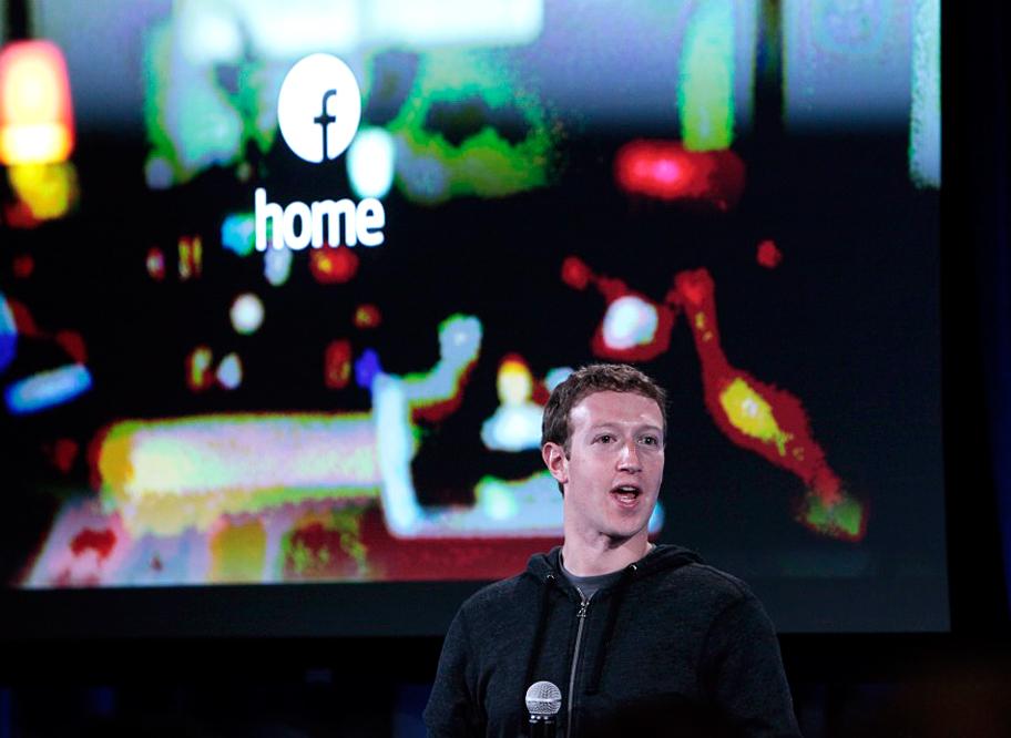 Марк Цукерберг на вчерашней презентации HTC First и Home