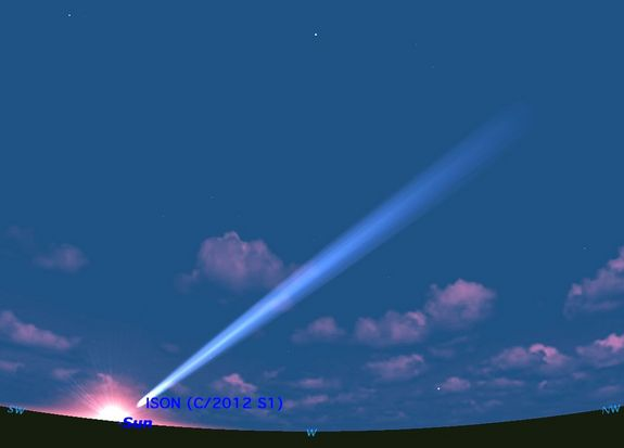 Где увидеть комету Исон в сентябре