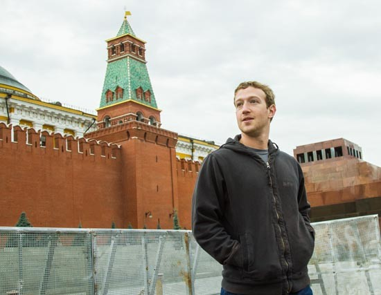 Марк Цукерберг на Красной площади