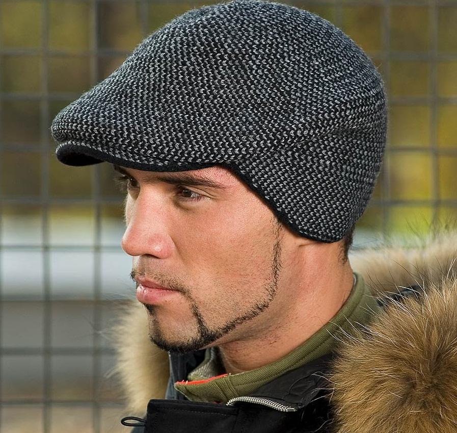 Вязанные мужские шапочки фото
