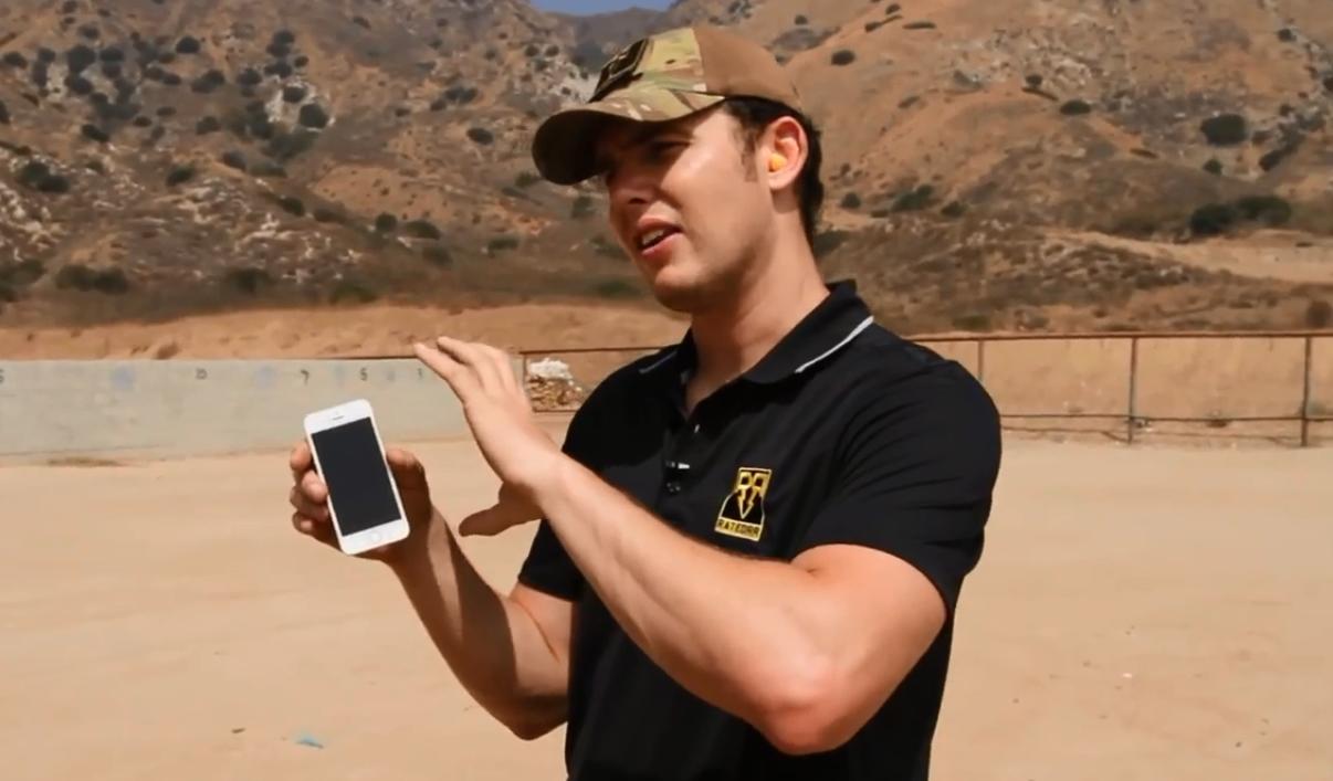 После всех тестов было решено проверить iPhone 5S на сопротивление выстрелу из оружия