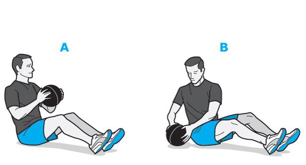 Медицинский мяч качает пресс и развивает мышцы кора