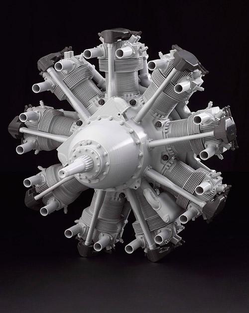 Уменьшенная точная копия авиационного двигателя Bristol Mercury 1938 года