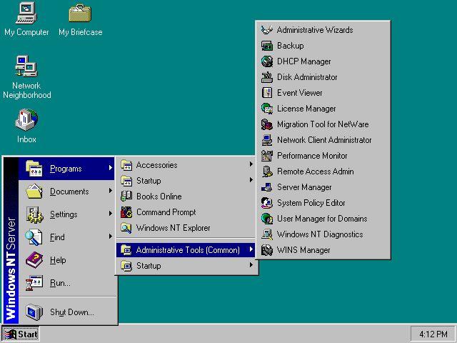 Windows NT поддерживала16-цветную графику