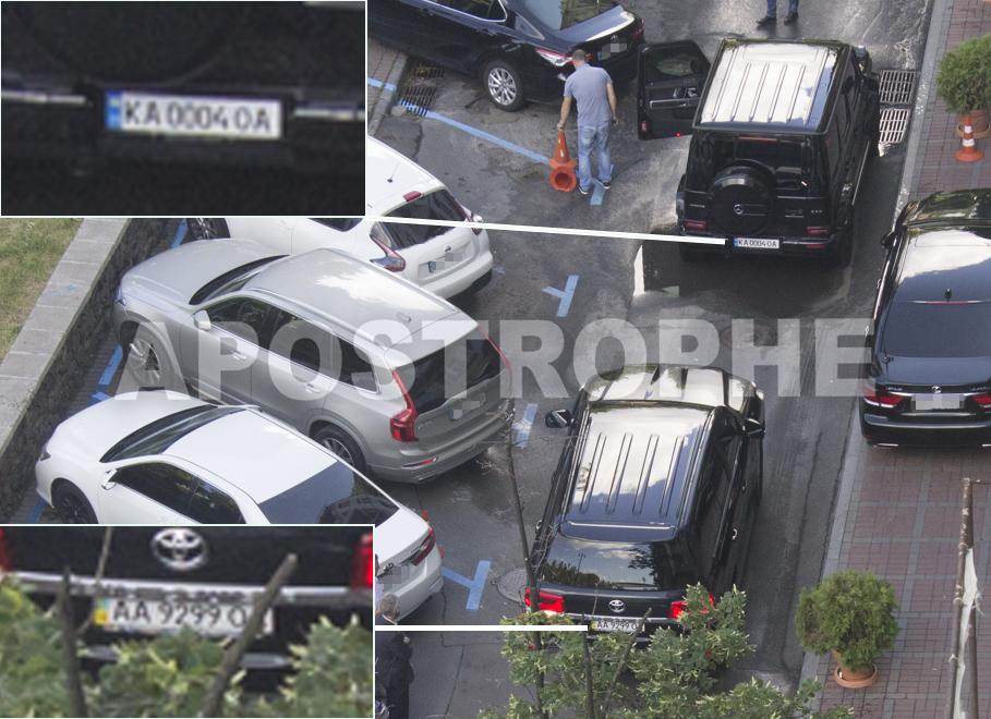 В Киеве автомобили Игоря Суркиса нарушали ПДД