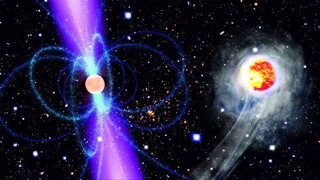 Нейтронная звезда летит с огромной скоростью