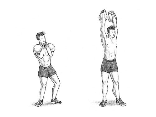 Упражнение задействует мышцы плеч, спины и трицепсы