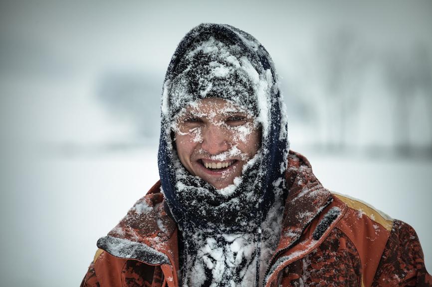 В холодную погоду береги лицо от обморожения