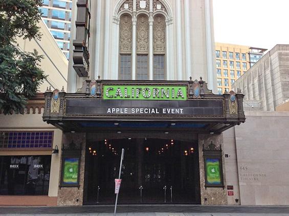 Калифорнийский театр в Сан-Хосе - здесь покажут iPad 4 Mini и, возможно, пару новых устройств