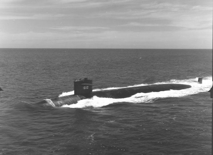 Одна из лодок класса Permit по неустановленным причинам утонула