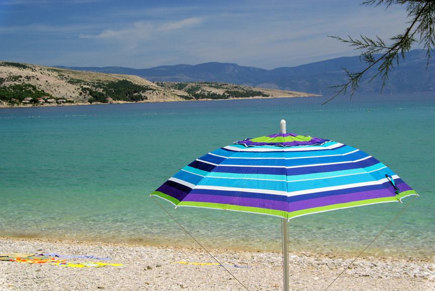 Зонты защищают от солнца