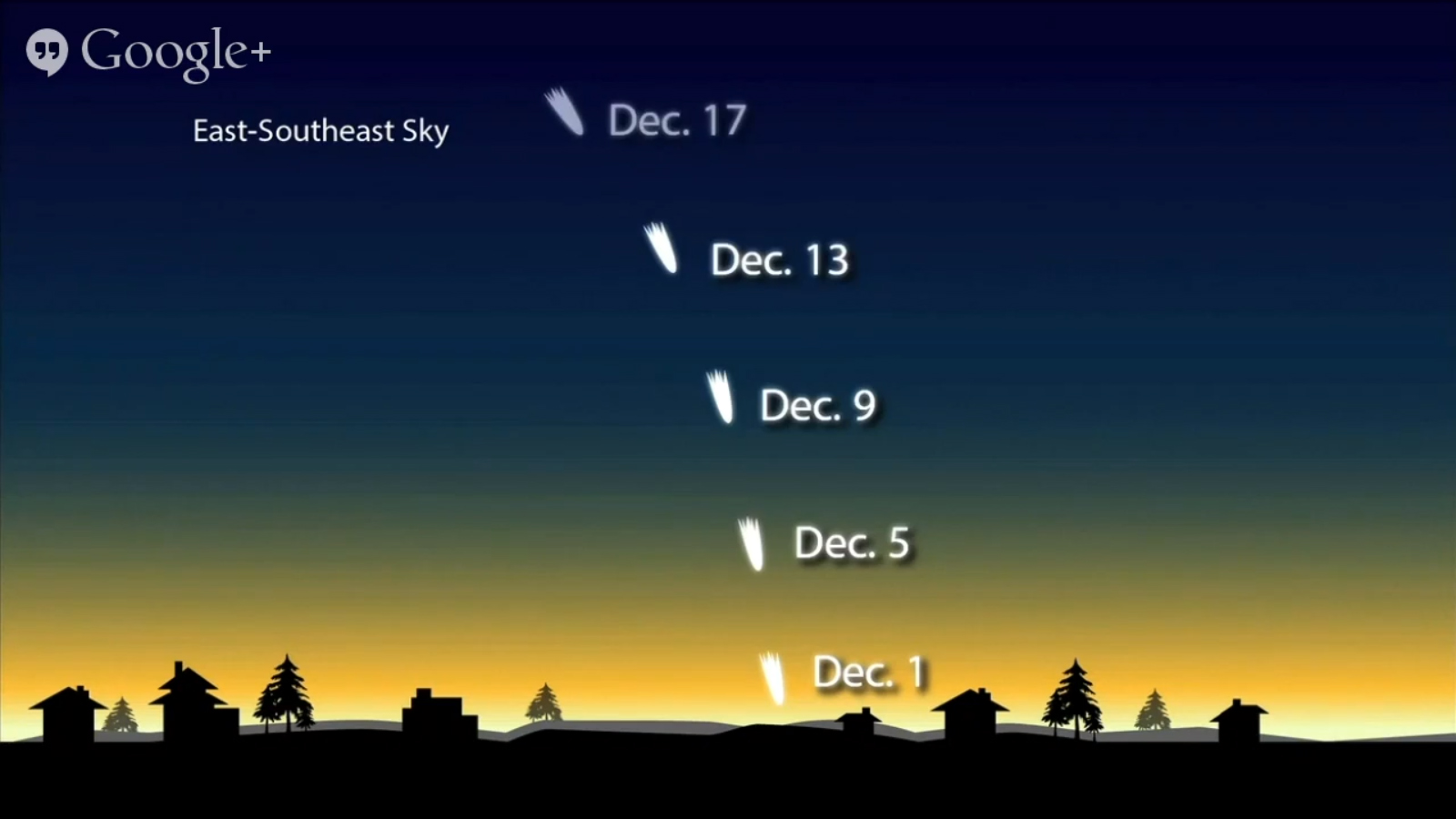 В декабре комету будет видно в утреннем и вечернем небе